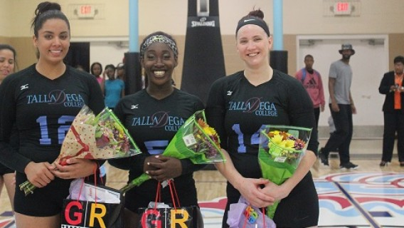 Photo for Talladega College Volleyball Team Wins on Senior Night